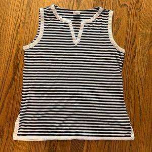 Brooks Brothers Split Neck Striped Pajama Top
